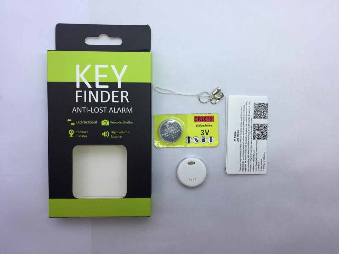Smart Key Finder Anti Lost IOS and Android Compatible Electronic Tracker  (Waterproof & Bluetooth)