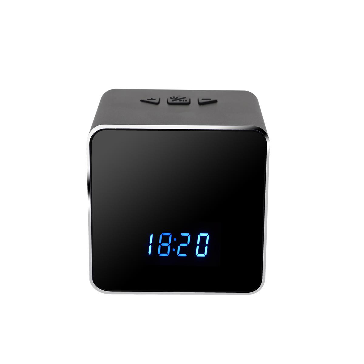 WIFI Wireless Bluetooth Speaker Music Player Electronic Clock HD Security  Night Vision Hidden Spy Camera